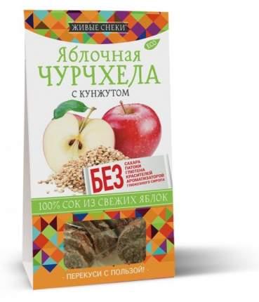 Яблочная чурчхела с кунжутом, 90г, ЖИВЫЕ СНЕКИ