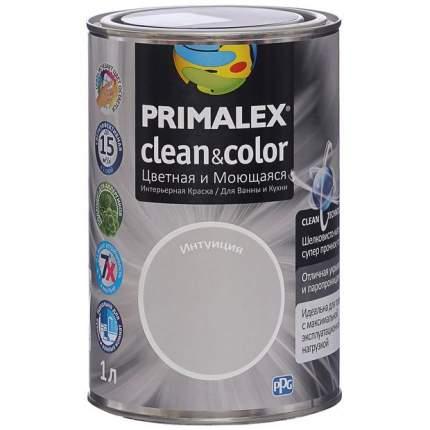 Краска для внутренних работ Primalex Clean&Color 1л Интуиция, 420208