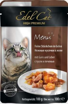 Влажный корм для кошек Edel Cat, гусь, печень, 100г