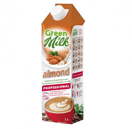 Напиток б/а Green Milk professional из растительного сырья на рисовой основе almond 1 л