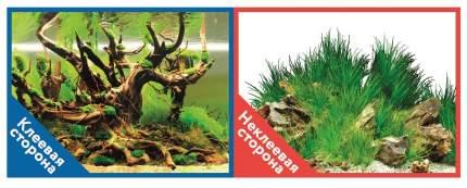Фон для аквариума Prime самоклеющийся Мангровая коряга/Подводный рельеф 50x100см