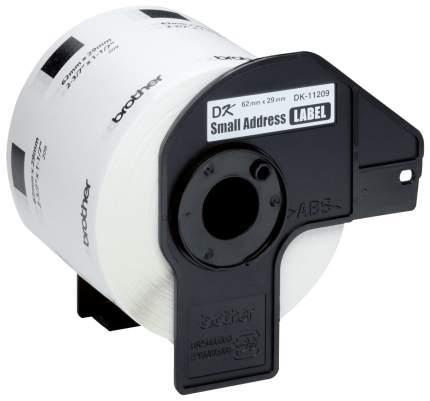 Лента для печати наклеек Brother DK11209 Black on white 62x29 мм 800 шт