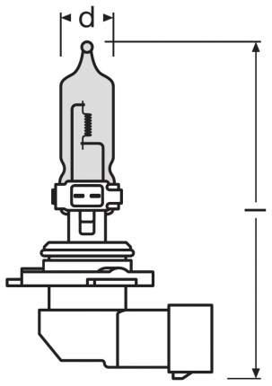 Лампа галогенная автомобильная OSRAM HB3 60W (9005CBI_DuoBox)