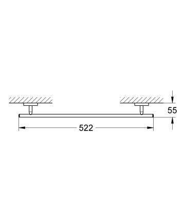 Держатель для полотенца GROHE BauClassic, 520 мм, хром