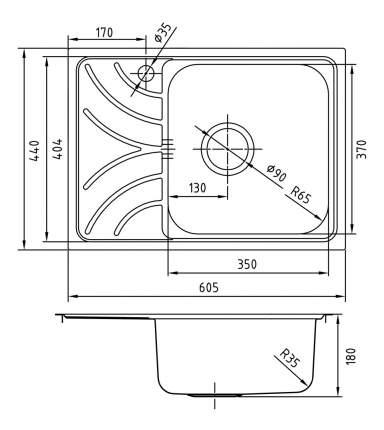 Мойка для кухни из нержавеющей стали IDDIS Arro ARR60PRi77 сталь