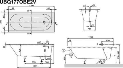 Акриловая ванна Villeroy & Boch Oberon 170х70 без гидромассажа
