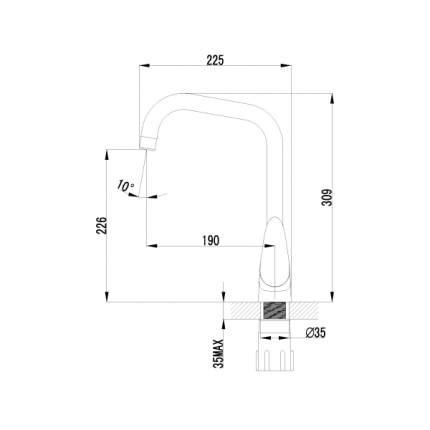 Смеситель для кухонной мойки LEMARK Pramen LM3355C хром