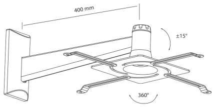 Кронштейн для видеопроектора ABC MOUNT Standard-82 Черный