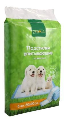 Triol DP17 Подстилки впитывающие для туалета, 60х90 см, 6 шт