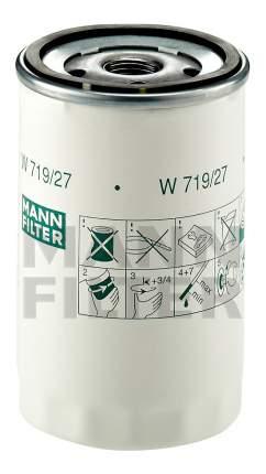 Фильтр масляный двигателя MANN-FILTER W719/27
