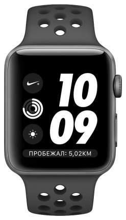 Смарт-часы Apple Watch Series 3 Nike+ 38mm Space Gray Al/Black Sport Band (MTF12RU/A)