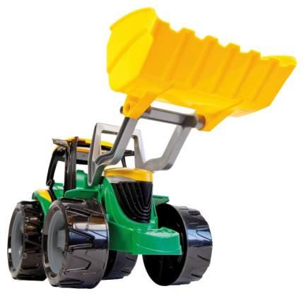 Строительная техника Лена Трактор с грейдером и ковшом зеленый 2057