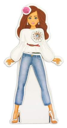 Магнитный набор с куклой, фоном и наклейками Высокая мода Happy Valley