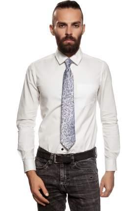Классический галстук Пробуждение со стильным принтом Signature 204432 синий