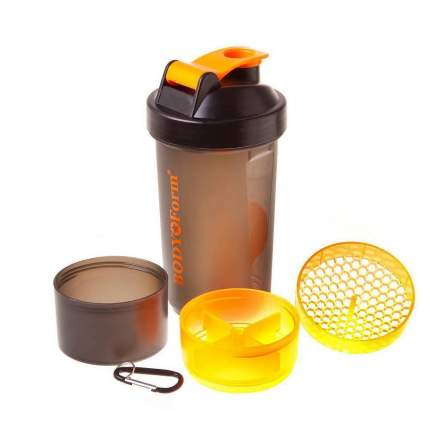 Спортивный шейкер BF-SSH02-600 черно-оранжевый