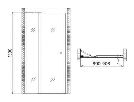 Душевая дверь gemy new rockcoco s03191b