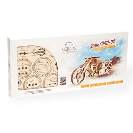 3D-пазл UGEARS мотоцикл 189 деталей