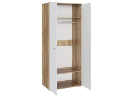 Шкаф распашной глянец ЭтоМебель Шкаф для одежды Лейла Дуб каньон / Белый глянец