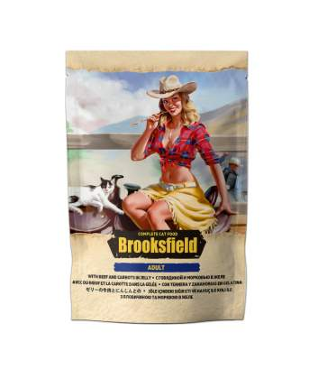 Влажный корм для кошек BROOKSFIELD Adult, говядина с морковью в желе, 22шт по 85г