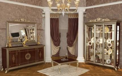 Зеркало с короной Мэри-Мебель Версаль ГВ-06К, орех тайский, 154х7х125 см