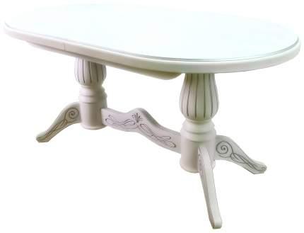 Кухонный стол Мебелик 78х200х90 см, белый