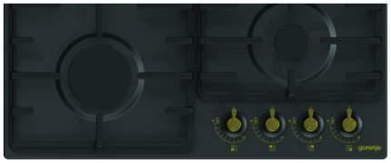 Встраиваемая варочная панель газовая Gorenje G641CLB Black