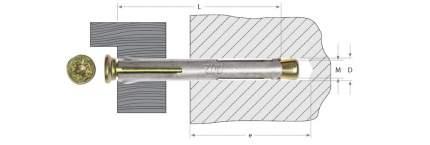 Анкерный крепеж Зубр Pz 10 0х182мм ТФ3 30шт
