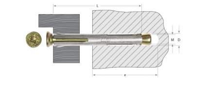 Анкерный крепеж Зубр Pz 10х72мм ТФ2 60шт