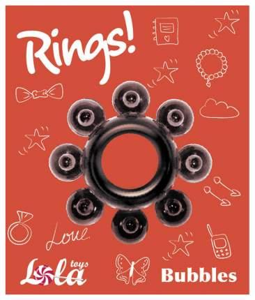 Эрекционное кольцо Lola Toys Rings Bubbles черный