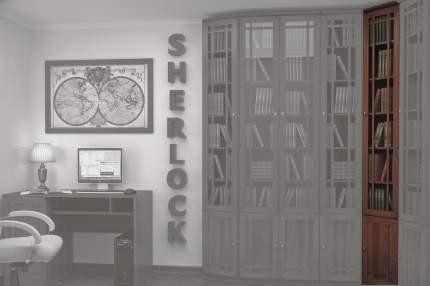 Шкаф книжный Hoff Sherlock 80095188 55,1х55,1х239,5, орех шоколадный
