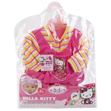 Одежда для кукол hello kitty комбинезон 40 42 см Карапуз B984587-HELLO KITTY