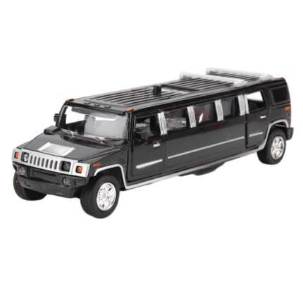 Машина Технопарк инерционная, металлическая лимузин, со светом и звуком