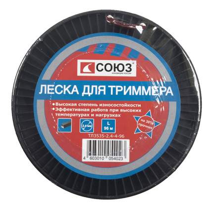 Леска для триммера Союз ТЛ3535-2.4-4-96