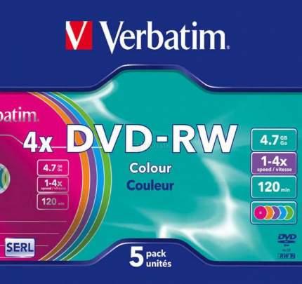 Verbatim Диски DVD-RW Verbatim 4x 4.7Gb SlimCase 5шт 43563