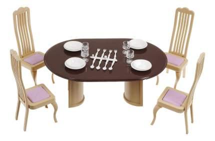 Набор кукольной Мебели для Столовой Огонек Коллекция