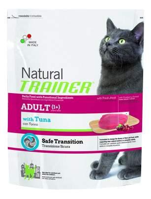 Сухой корм для кошек TRAINER Natural Adult, тунец, 0,3кг
