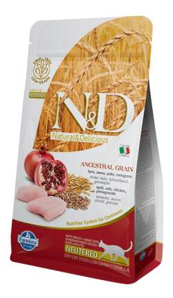 Сухой корм для кошек Farmina N&D Neutered, для стерилизованных,, курица и гранат, 1,5кг