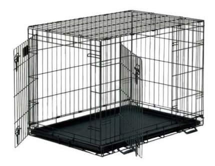 Клетка для собак Life Stages 2 двери 1630DD 76х53х61hсм, черная