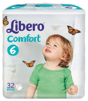 Подгузники Libero Comfort Fit EcoTech 6 (12-22 кг), 32 шт.