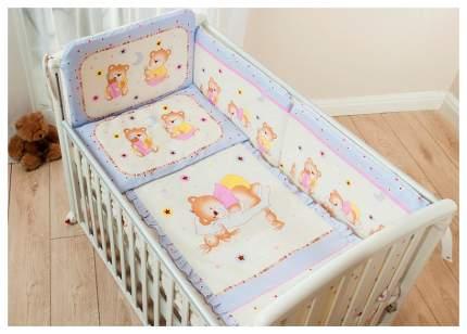 Комплект детского постельного белья Perina Ника Мишка на подушке 4 предмета лиловый