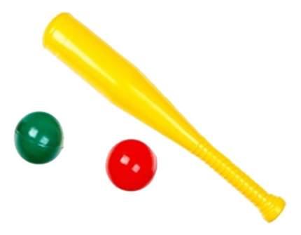 Игра уличная Счастливое детство Бейсбольная бита с шарами