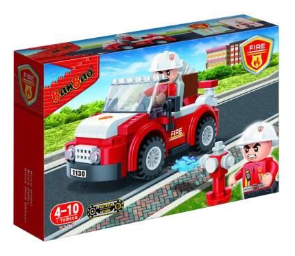 Конструктор пластиковый BanBao Пожарный внедорожник