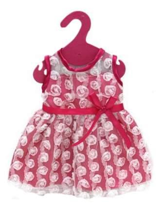 Платье с гипюром розовый цвет 25,5x36x1 см для кукол Junfa toys