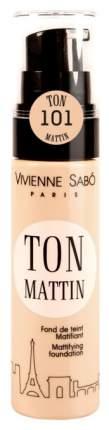 Тональный крем Vivienne Sabo Mattifying foundation Fond de teint Matifiant Ton Mattin 101