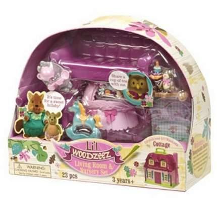 Игровой набор Lil Woodzeez для гостиной и детской с аксессуарами 23 предмета