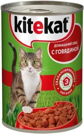Консервы для кошек KiteKat Домашний обед, с говядиной, 410г