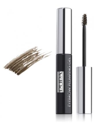 Пигментированный гель для бровей PUPA Eyebrow Plumping Gel, тон №002 Brown