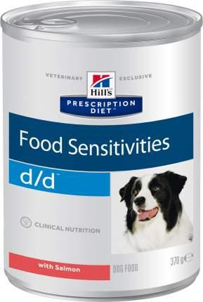 Консервы для собак Hill's Prescription Diet Food Sensitivities d/d, лосось, рис, 370г