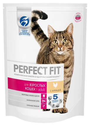 Сухой корм для кошек Perfect Fit Adult, курица, 16шт по 190г