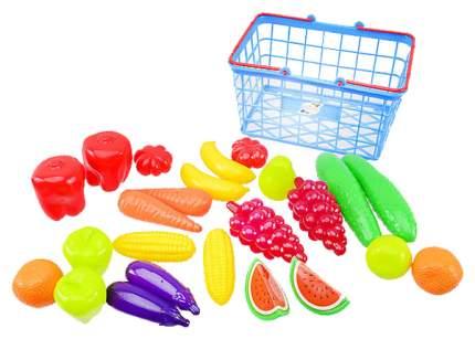 Набор продуктов игрушечный Orion Toys Фрукты Овощи в корзинке 379в3